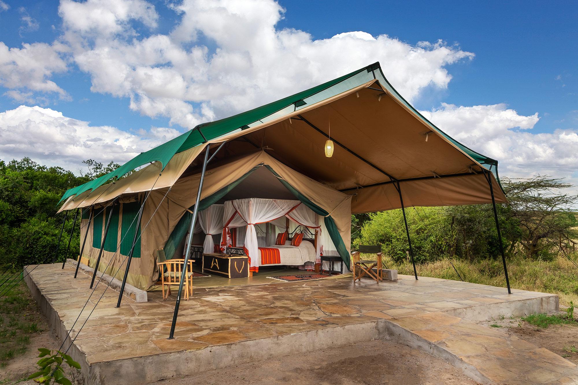 Mara Big Five Camp, Zelt